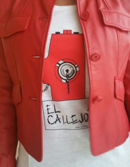 camiseta el callejon chica scoop rojo 190x243 - Camisetas Mujer
