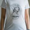 cerebro miss chica blanca 100x100 - Camiseta Mujer CEREBRO Blanca