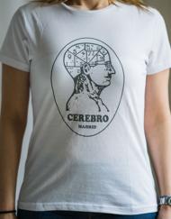 cerebro miss chica blanca 190x243 - Camiseta Mujer CEREBRO Blanca