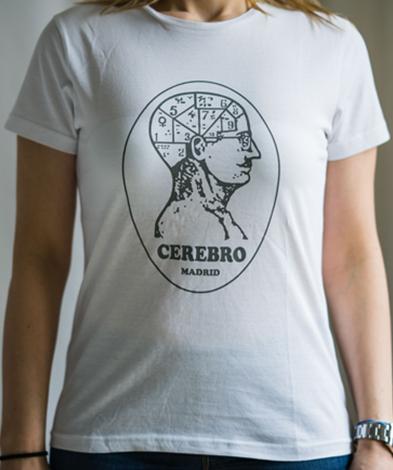 cerebro miss chica blanca - Camiseta Mujer CEREBRO Blanca