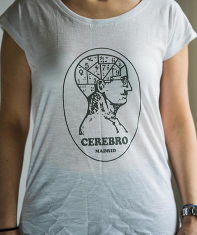 camiseta cerebro madrid chica