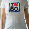 ilove80s miss 100x100 - Camiseta Mujer I LOVE 80s Blanca