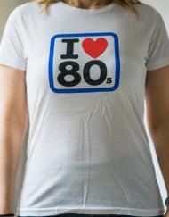 ilove80s miss 190x243 - Camiseta Mujer I LOVE 80s Blanca