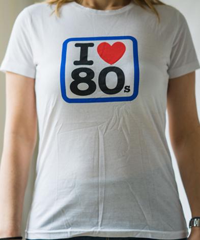 ilove80s miss - Camiseta Mujer I LOVE 80s Blanca