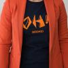 oh madrid chica chaquetanaranja 100x100 - Camiseta Mujer OH! MADRID Azul Marino