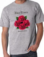FOUR ROSES GRIS 2 190x243 - Camiseta FOUR ROSES Gris