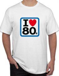 I LOVE 80 BLANCA 190x243 - Camiseta I LOVE 80s Blanca