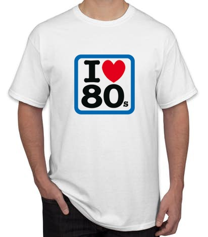I LOVE 80 BLANCA - Camiseta I LOVE 80s Blanca