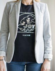 Ilove80s 4 190x243 - Camiseta Mujer JOY ESLAVA Negro y Plata