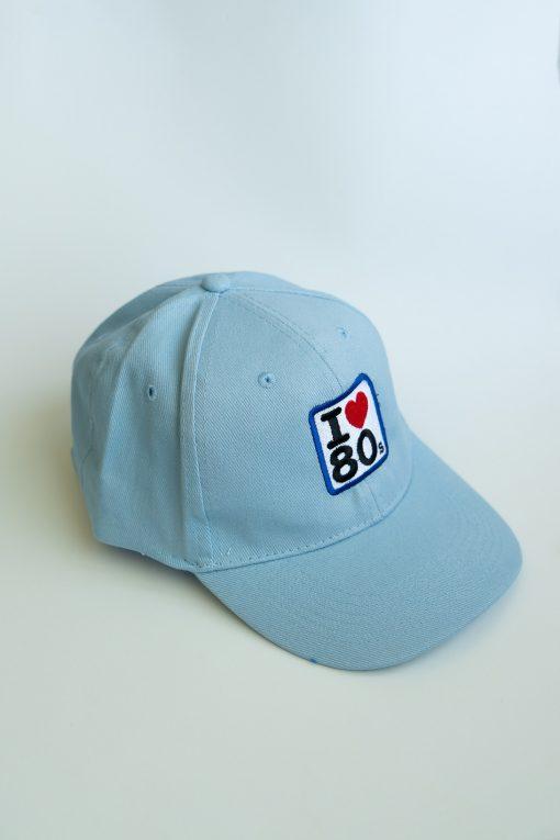 Gorras Azul Cielo 2 510x765 - Gorra I LOVE 80s Azul Cielo