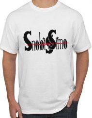 BLANCA NEGRO 190x243 - Camiseta SNOBISSIMO Blanca