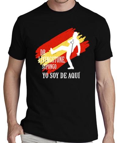 CAMISETA NEGRA DR LIVINGSTONE - Pack Camiseta Negra+ CD YO SOY DE AQUI