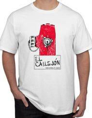 CALLEJON ROTO 190x243 - Camiseta EL CALLEJÓN Blanca LOGO Efecto Roto