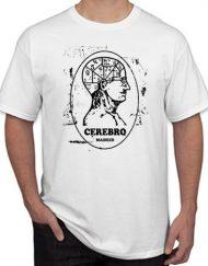 CEREBRO ROTO 190x243 - Camiseta CEREBRO Blanca LOGO Efecto Roto