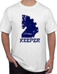 KEEPER ROTO 190x243 - Camiseta KEEPER Blanca Logo Efecto Roto