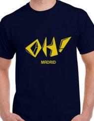 OH AZUL AMARILLO 190x243 - Camiseta OH! MADRID Azul Marino