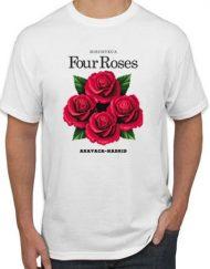 FOUR ROSES BLANCA 190x243 - Camiseta FOUR ROSES Blanca