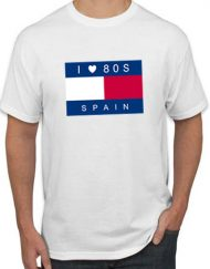 TOMMY BLANCA 190x243 - Camiseta ILOVE80s BANDERA