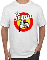 VESPA MOTO BLANCA 190x243 - Camiseta VESPA MOTO