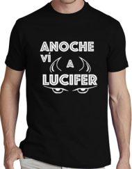 LUCIFER NEGRA BLANCO 190x243 - Camiseta LUCIFER NEGRA Letra Blanca