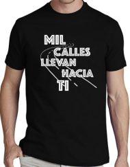 MIL CALLES NEGRA BLANCO 190x243 - Camiseta MIL CALLES NEGRA Blanca