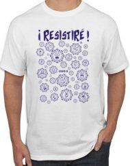RESISTIRE BLANCA MARINO 1 190x243 - Camiseta RESISTIRÉ Blanca - Marino