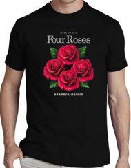 FOUR ROSES NEGRA GRIS 190x243 - Camisetas Mujer