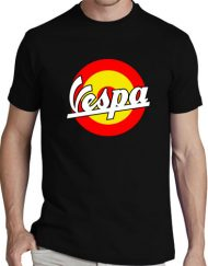 VESPA NEGRA BANDERA 190x243 - Camisetas Mujer